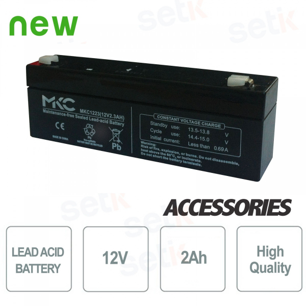Lead-acid battery / accumulator 12V 2.0Ah - Setik