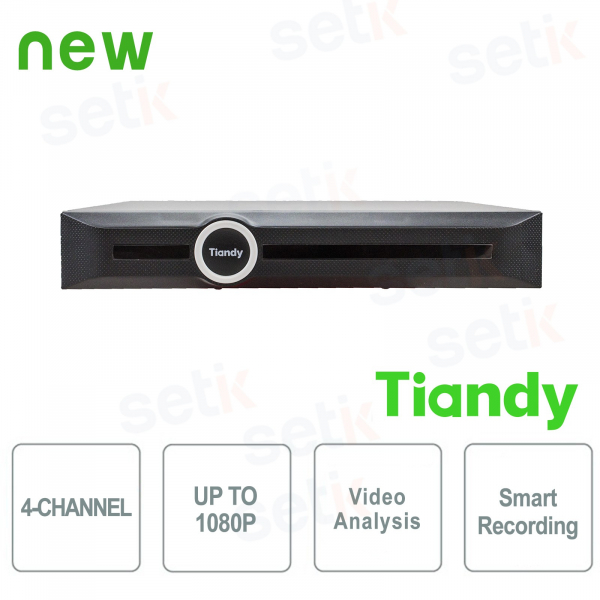 NVR 4 Canali 1080P 1HDD Video Analisi e Smart Recording - Tiandy