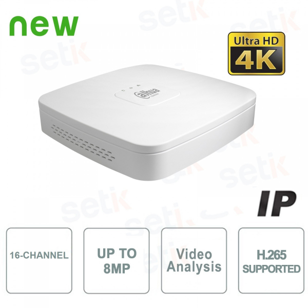 IP Channels 16 NVR 4K H.265 up to 8MP 1HDD - Lite Series - Dahua