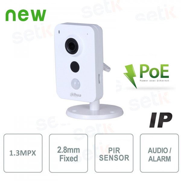 IP Camera 1.3MP 2.8mm IR PoE Audio Alarm - Dahua