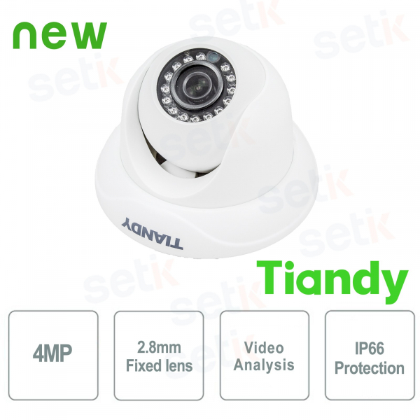 Telecamera IP Mini IR Dome 4MP 2.8mm Video Analisi WDR - Tiandy