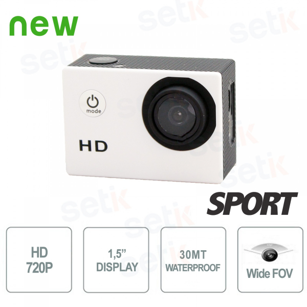 HD Action Sport Camera - 720P - Waterproof, Photos and Videos - Setik