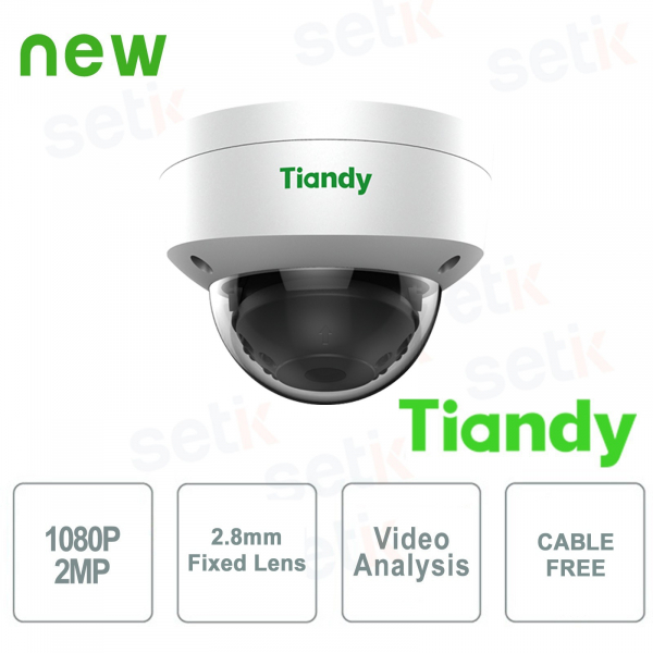 Telecamera IP Mini Dome 2MP 2.8mm CableFree Video Analisi WDR - Tiandy