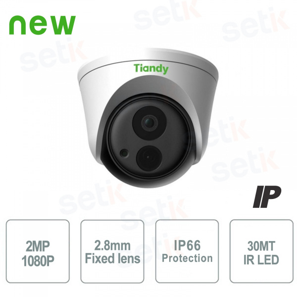 IP Dome Camera 2MPX 2.8mm IP66 WDR - Tiandy