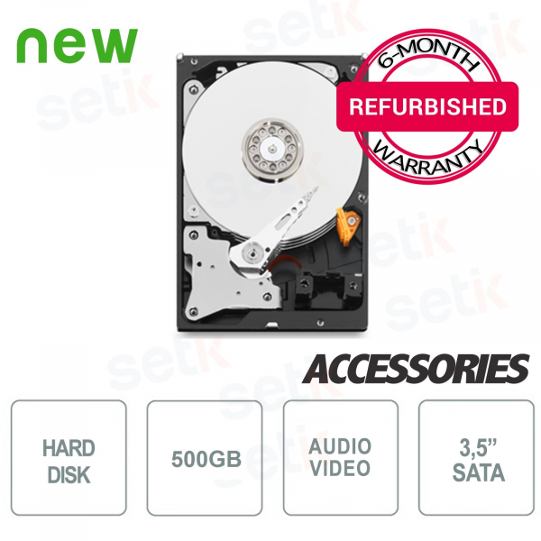 "500GB 3.5"" SATA Audio/Video Internal Hard Drive - Refurbished with Warranty"