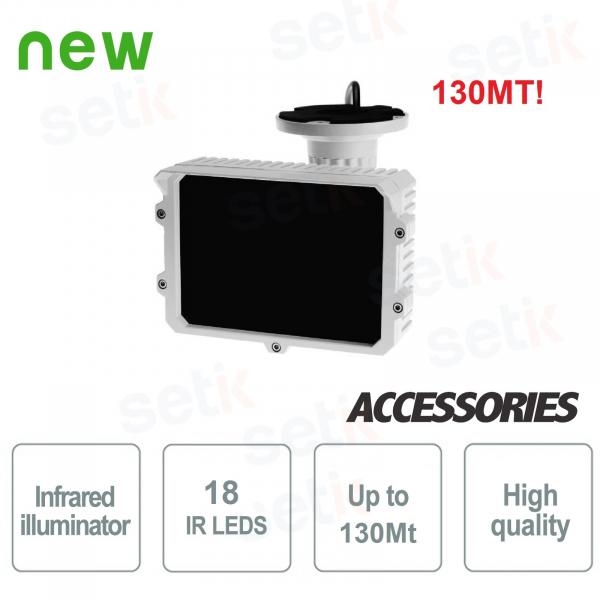 Illuminatore Telecamera 18 LED 130 Metri Infrarossi - Setik