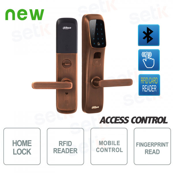 Bluetooth smart lock with fingerprint reader and RFID - Dahua