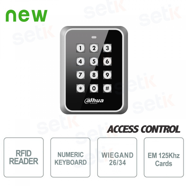 125KHz Wiegand EM RFID reader with keyboard - Dahua