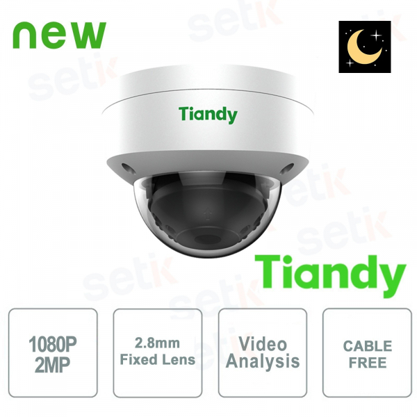 Telecamera IP Mini Dome 2MP Starlight 2.8mm CableFree Video Analisi WDR - Tiandy