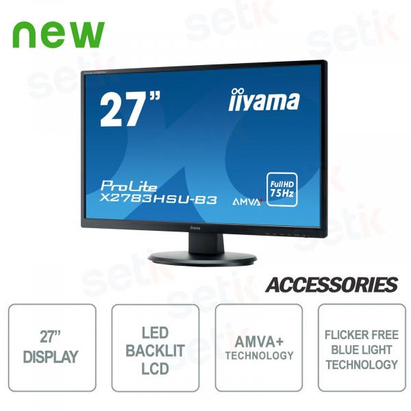 Monitor ProLite 27 AMVA+ 4ms Flicker Free Speakers - IIYAMA