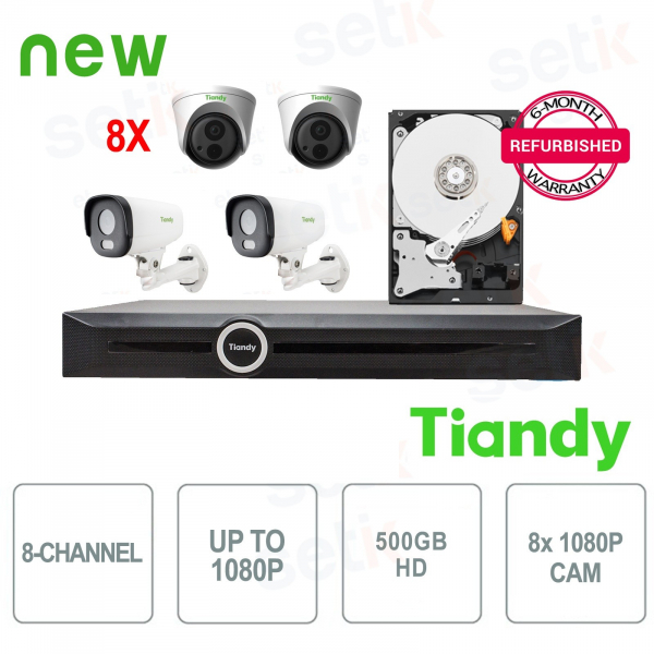 KIT Speciale Tiandy 8 Telecamere + NVR e HD