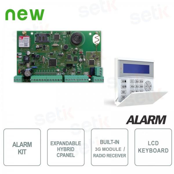 Kit Centrale Allarme 8-64 Zone 3G Ricevitore Radio + Tastiera - AMC
