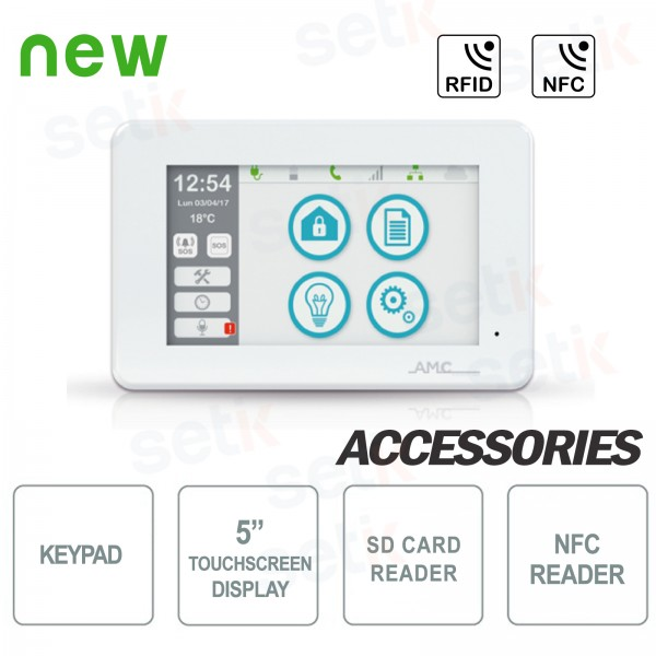 AMC Unika Touchscreen Keypad 5 inch keypad
