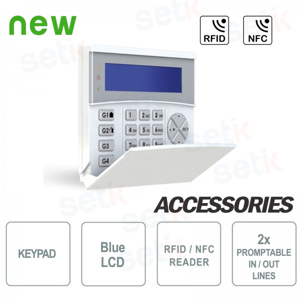 Remote Backlit LCD Keyboard BLUE RFID / NFC - AMC