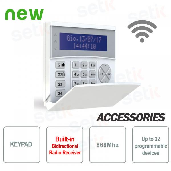 Tastiera con ricevitore radio integrato 868 MHz - AMC