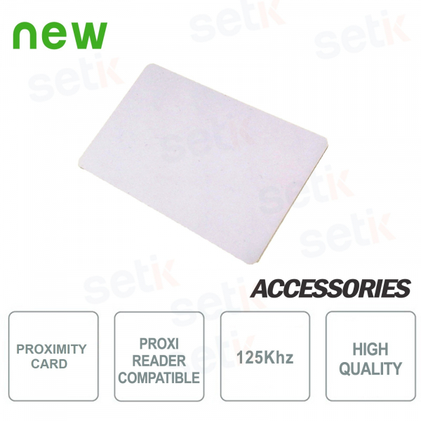 125Khz RFID card for proximity readers - Setik