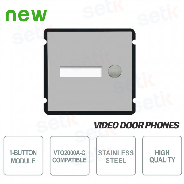 Module 1 Button for Intercom VTO2000A-C - Dahua