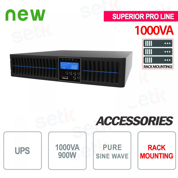 Fuente de alimentación ininterrumpida UPS 1000VA 900W RACK - Superior