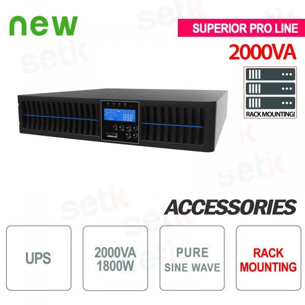 Unterbrechungsfreie Stromversorgung USV 2000VA 1800W RACK - Superior Pro