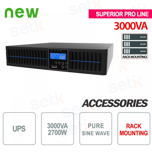 Uninterruptible power supply UPS 3000VA 2700W RACK - Superior Pro