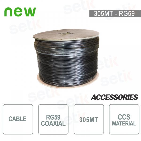 305 METERS RG59 COAXIAL CABLE SKEIN - CCS - SETIK - 305MTRG59CCS