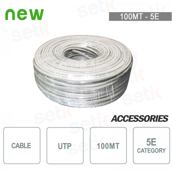 UTP CAT 5E CCA Network Cable - 100MT Skein