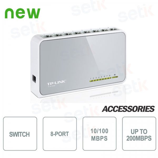 10/100Mbps 8-Port Switch - Desktop Switch