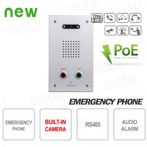PoE emergency phone with camera - Dahua