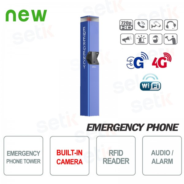 Emergency telephone SOS post with Dahua camera