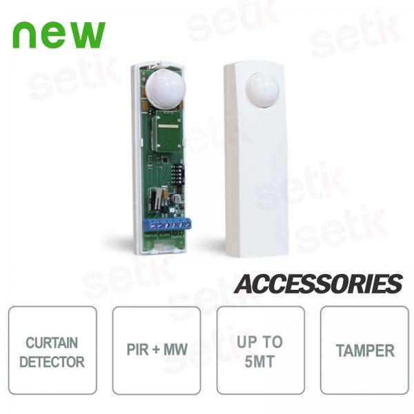 Sensore Doppia Tecnologia Effetto Tenda Porte Finestre - AMC