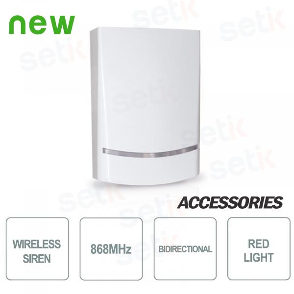Wireless AMC siren via external two-way radio - AMC