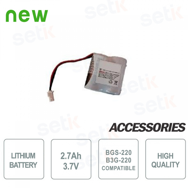 2.7Ah lithium battery - 3.7V for Bentel BGS-220 / B3G-220