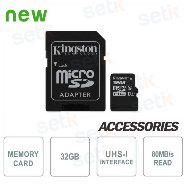 Scheda microSD Canvas Select 32GB Classe 10 - Kingston
