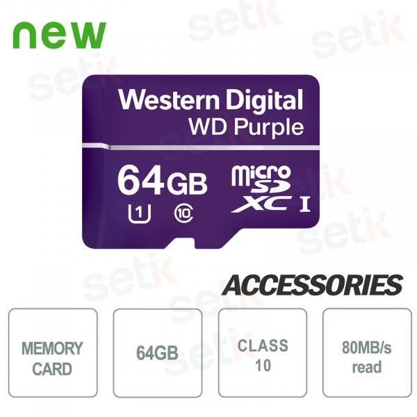 MicroSDXC Western Digital 64 GB Classe 10 UHS