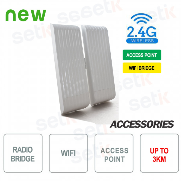 Access Point WiFi Bridge 2.4GHz-300Mbps Setik