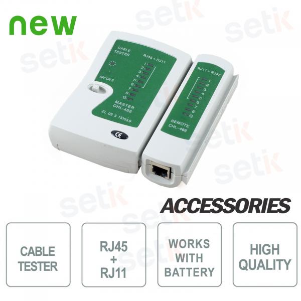 Cable tester RJ45+RJ11 - Setik