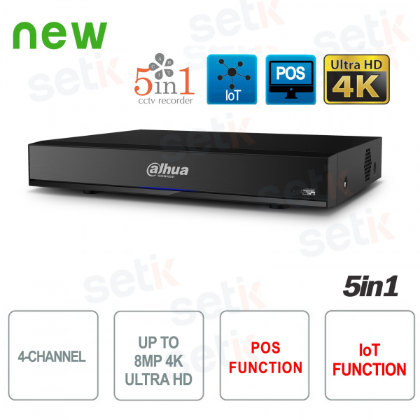 DVR 4 Canali HD CVI AHD TVI ANALOGICO IP 8MP 4K Dahua