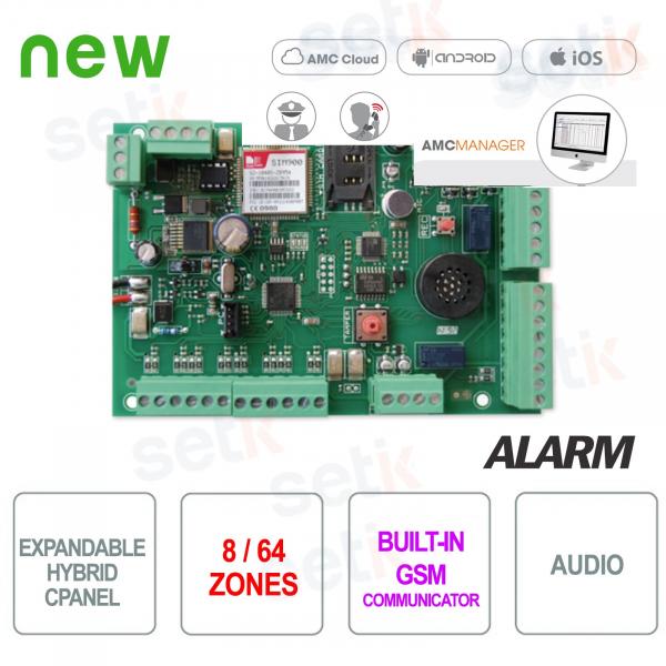 Centrale allarme 8 zone espandibile a 64 GSM - AMC