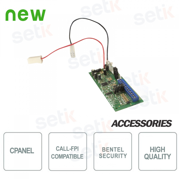 Replacement card for CALL-FPI Siren Bentel