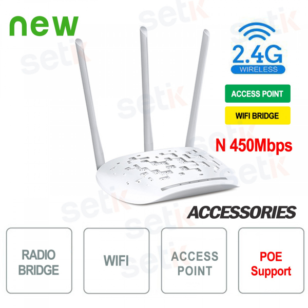 Access Point WiFi Bridge 450 N 2.4GHz - Setik