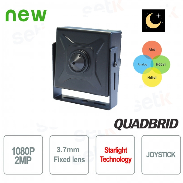 "1080P Starlight 4in1 ""ANALOG / AHD / CVI / TVI"" Hidden Camera Setik"