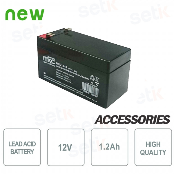 12V Battery / Storage lead acid battery 1.2Ah - Setik