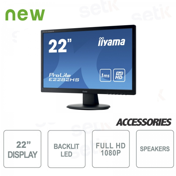 Monitor ProLite 22 Full HD - DVI - HDMI - Speaker - Attacco Vesa - IIYAMA