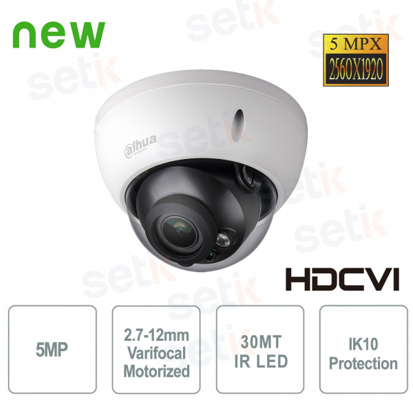 Dahua HD CVI 5MP IR Motorized IK10 Camera