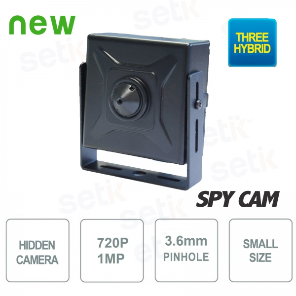 "3in1 Hybrid Hidden Camera ""Ahd / Hdcvi / Hdtvi"" 720P 3.6mm - Setik"