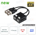 Coppia Video Balun Passivi 4K HD CVI TVI AHD CVBS Dahua