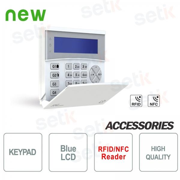 Tastiera wireless 868MHz LCD con lettore RFID/NFC - AMC