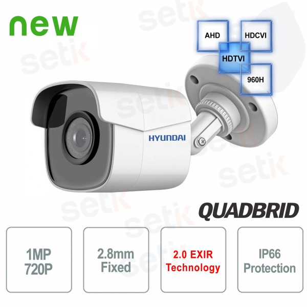 Hyundai 1 MP video surveillance camera 4 in 1 2.8mm IR bullet