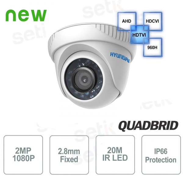 Video surveillance camera Hyundai 2 MP 4 in 1 Dome 2.8 mm IR