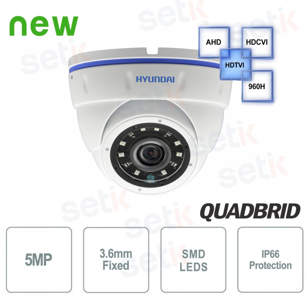 Hyundai 5 MP 4 in 1 Dome 3.6mm IR Video surveillance camera